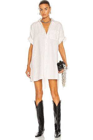 R13 Oversized Boxy Button Up Dress in