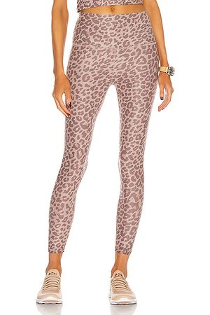 Beyond Yoga Spacedye Printed Caught In The Midi High Waisted Legging in Chai Cocoa Leopard