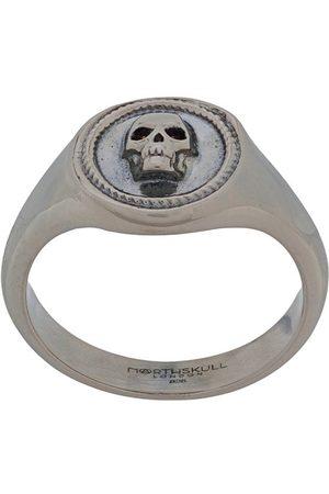 NORTHSKULL Men Rings - Atticus skull signet pinky ring