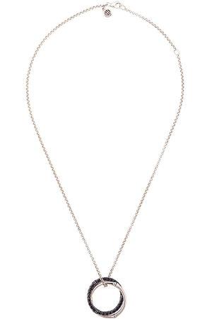 John Hardy Women Necklaces - Bamboo Lava medium interlink sapphire pendant necklace