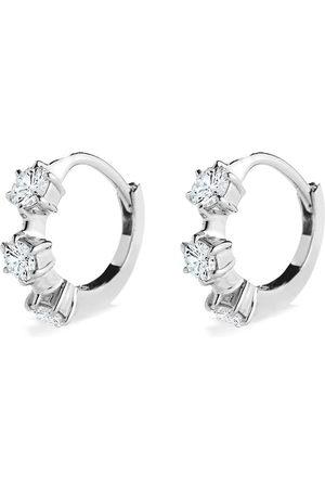Jade Trau 18kt gold mini Kismet diamond huggie earrings