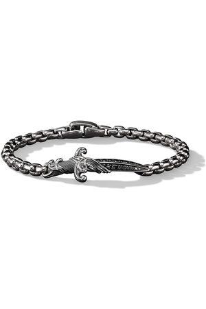 David Yurman Men Bracelets - Sterling silver Waves diamond dagger bracelet