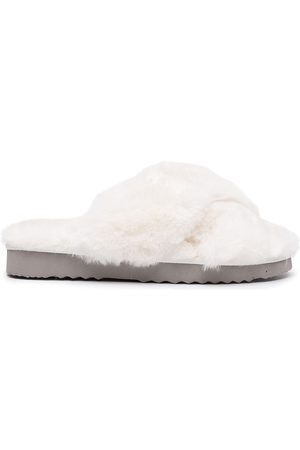 Apparis Elsa faux-fur criss-cross slippers