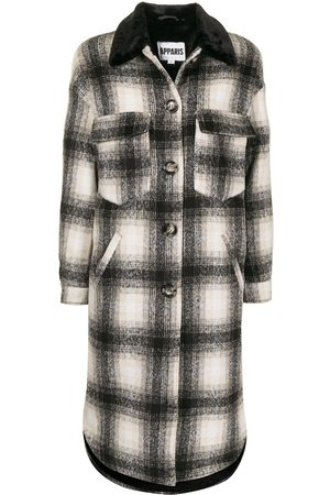 Apparis James checked single-breasted coat