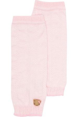 Familiar Teddy bear-motif knitted leg warmers
