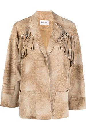 Sylvie Schimmel Fringed goatskin leather jacket - Neutrals