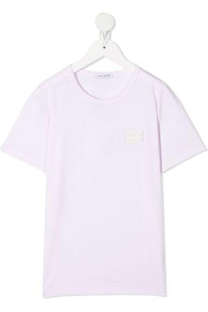 Dolce & Gabbana Kids Logo plaque T-shirt
