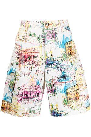 Valentino Roman sketches-print Bermuda shorts