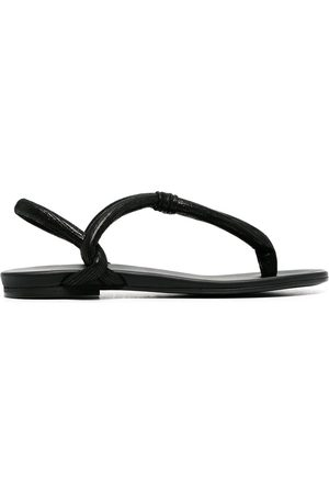 Del Carlo Leather thong strap flip-flops