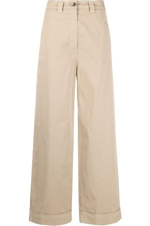 Semicouture Ines wide leg trousers - Neutrals