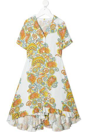 LANVIN Enfant Printed ruffled maxi dress