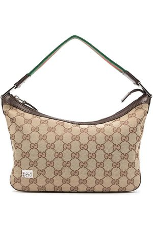 Gucci 1990s Shelly Line GG pattern tote bag