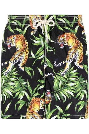 Mc2 Saint Barth Tiger-print swim shorts