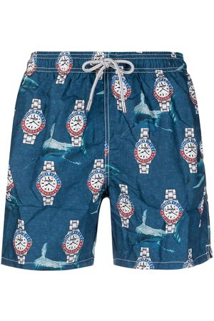 Mc2 Saint Barth Watches-print elasticated-waist swim shorts