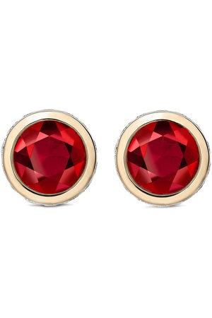 Pragnell 18kt yellow diamond ruby Sundance stud earrings