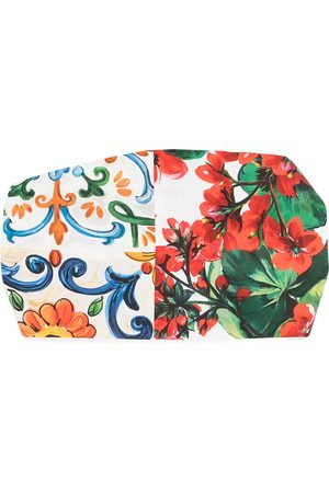 Dolce & Gabbana Kids Majolica floral-print headband - Neutrals