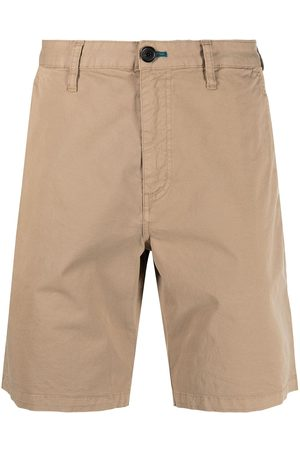 PS Paul Smith Garment-dyed stretch-cotton shorts - Neutrals