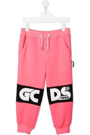 Gcds Kids Logo print tracksuit bottoms