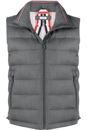 Thom Browne Padded funnel neck vest