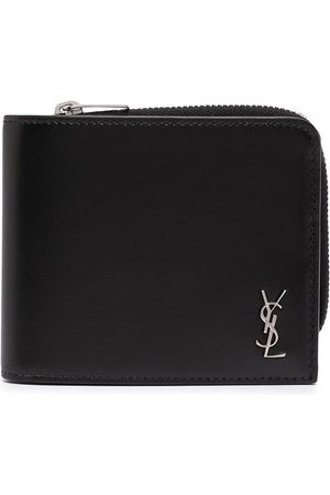 Saint Laurent YSL plaque zip-around wallet