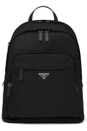 Prada Men Rucksacks - Re-Nylon logo-plaque backpack