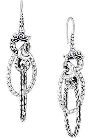 John Hardy Legends Naga sapphire drop earrings