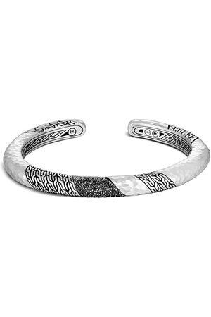 John Hardy Women Bracelets - Classic Chain hammered sapphire kick cuff