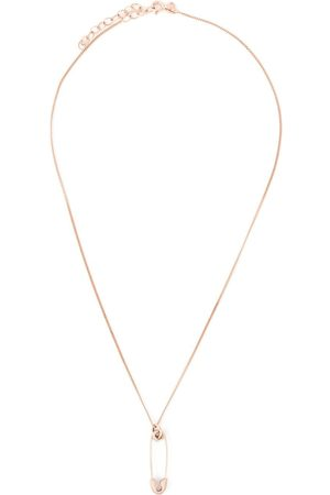 True Rocks Small safety pin necklace - Metallic