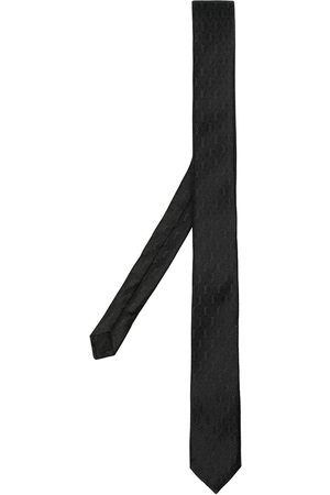 Saint Laurent Monogram pattern silk tie