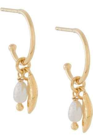 Wouters & Hendrix Sins And Senses pearl hoop earrings