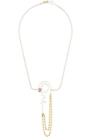 Wouters & Hendrix Heart shaped garnet necklace