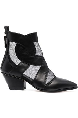 AGL Pointed leather boots