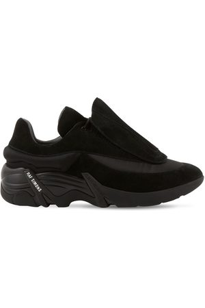 RAF SIMONS Antei Suede & Leather Low-top Sneakers