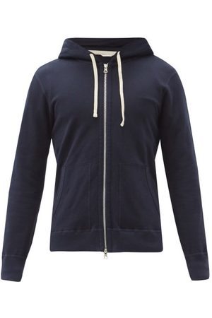 Reigning Champ Zipped Cotton-terry Hooded Sweatshirt - Mens - Navy