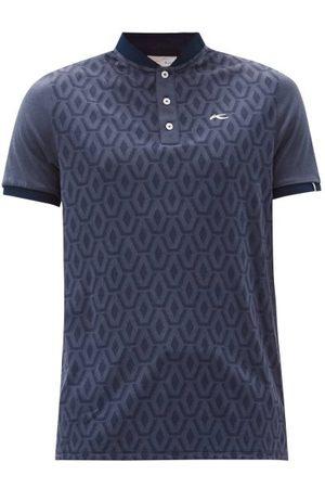 Kjus Men T-shirts - Lance Geometric-jacquard Jersey Henley T-shirt - Mens - Navy