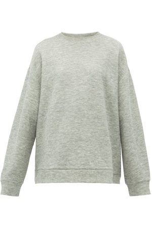 Raey Crew-neck Cashmere-blend Sweatshirt - Womens - Marl