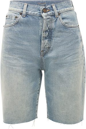 Saint Laurent Cotton Denim Bermuda Shorts