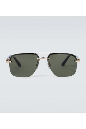 CARTIER EYEWEAR Frameless aviator sunglasses