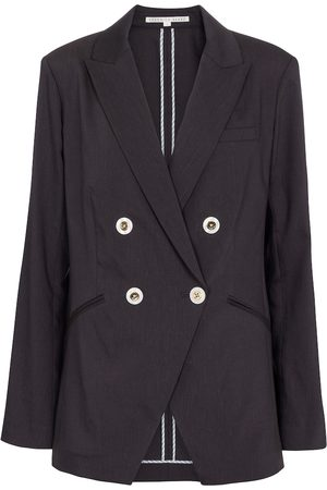 Veronica Beard Nisha linen and wool-blend blazer