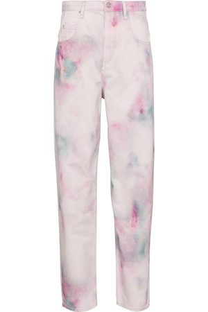 Isabel Marant, Étoile Corfy tie-dye high-rise straight jeans