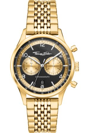 THOMAS SABO Men's watch Rebel at Heart Chronograph gold WA0376-264-203-40 MM
