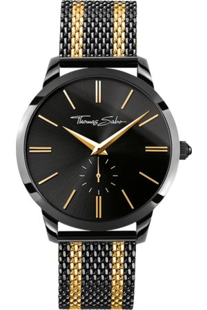 THOMAS SABO Men's watch REBEL SPIRIT black WA0281-284-203-42 MM