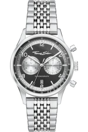 THOMAS SABO Men's watch Rebel at heart Chronograph silver WA0375-201-203-40 MM