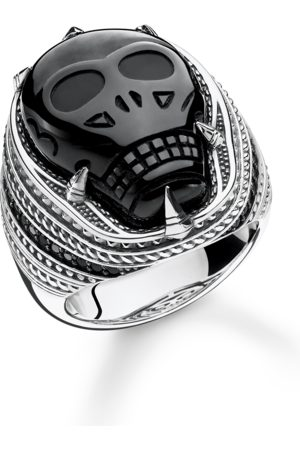 THOMAS SABO Ring onyx skull TR2214-705-11-48