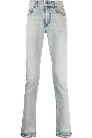 Saint Laurent Faded-effect straight jeans