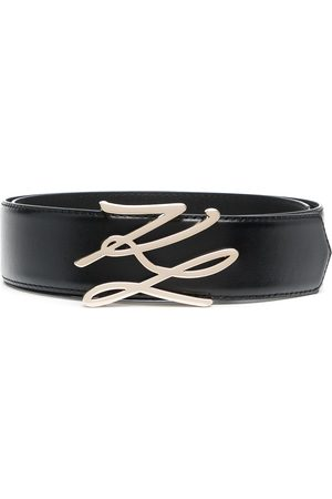 Karl Lagerfeld Logo-plaque leather belt