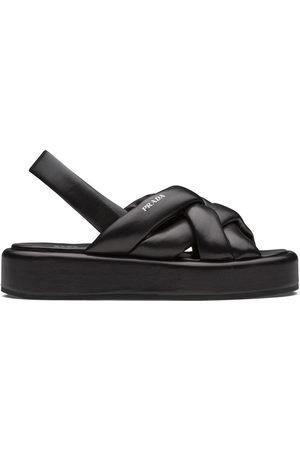 Prada Woven flatform sandals