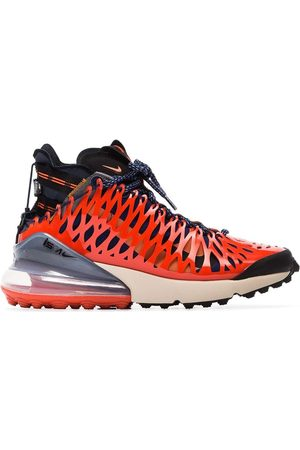 Nike Blue and red ISPA air max 270 high top sneakers