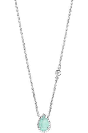 Boucheron 18kt white gold diamond aquaprase Serpent Bohème necklace