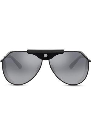 Dolce & Gabbana Eyewear Logo-plaque goggle-frame sunglasses